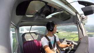 Zach takes his first SOLO FLIGHT: GRIFFITH AVIATION - CESSNA 150