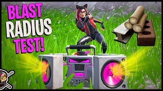 Testing The *NEW* BOOMBOX Blast Radius - Damage Test To Each Material - Fortnite