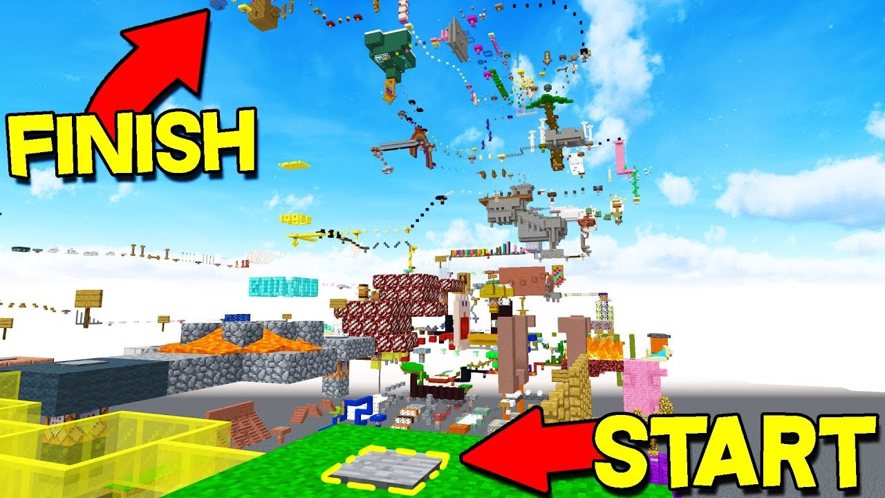 WORLD'S LARGEST MINECRAFT PARKOUR MAP! - YouTube
