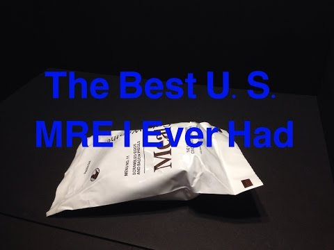 MRE Review 2014 MCW Military Meal Cold Weather Menu 11 Scrambled Eggs With Bacon