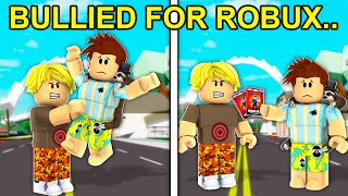 Bullied For Robux Cards.. (Roblox Brookhaven)