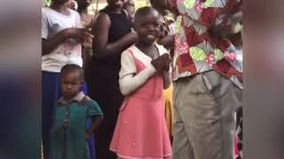 Welcomed by the village children's choir