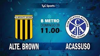 Almirante Brown vs Acassuso full match