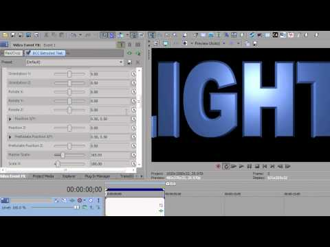 Lights And Shadows In Sony Vegas Pro