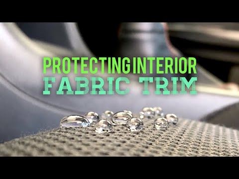 Cleaning and Protecting interior fabric trim.
