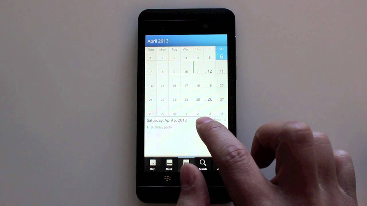 How To Delete Calendar Events  Blackberry Z10