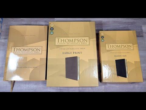 Zondervan KJV Thompson - all 3 sizes compared