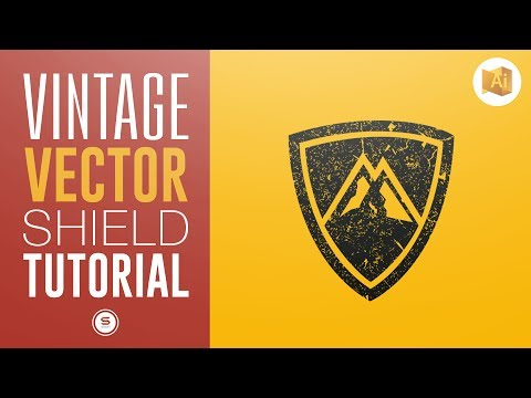 VINTAGE VECTOR LOGO   How To Add Texture In Illustrator   Satori Graphics Illustrator Tutorial