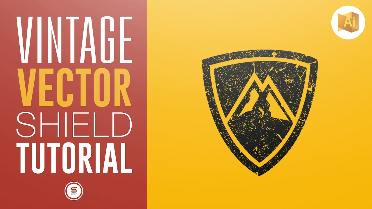 VINTAGE VECTOR LOGO | How To Add Texture In Illustrator ...