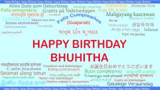 Bhuhitha   Languages Idiomas - Happy Birthday