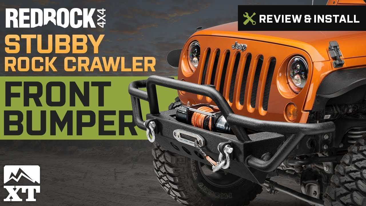maxresdefault jeep wrangler redrock 4x4 stubby rock crawler front bumper (2007 rock crawler wiring harness at bayanpartner.co