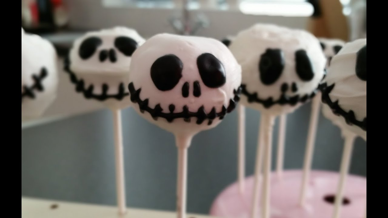 jack skellington cake pops for halloween - youtube