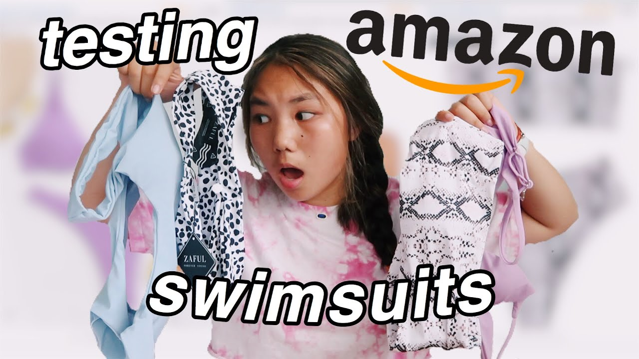 testing AMAZON swimsuits (try on haul)