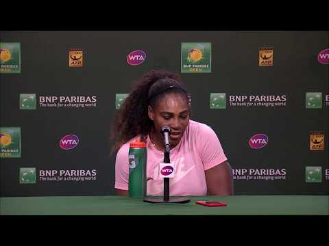 BNP Paribas Open 2018: Serena Williams 2R Press Conference
