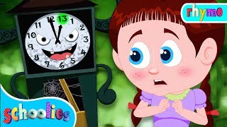 Clock Has Struck Thirteen | Videos Songs And Cartoon  For Kids | Schoolies