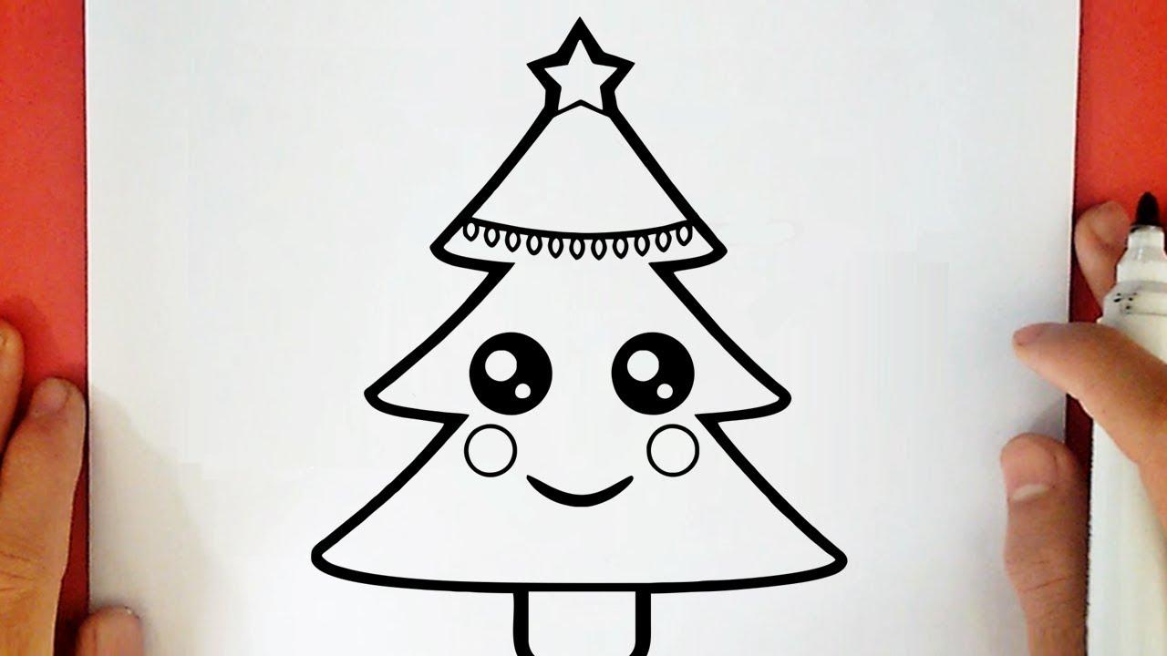 Come Disegnare Un Albero Di Natale Kawaii