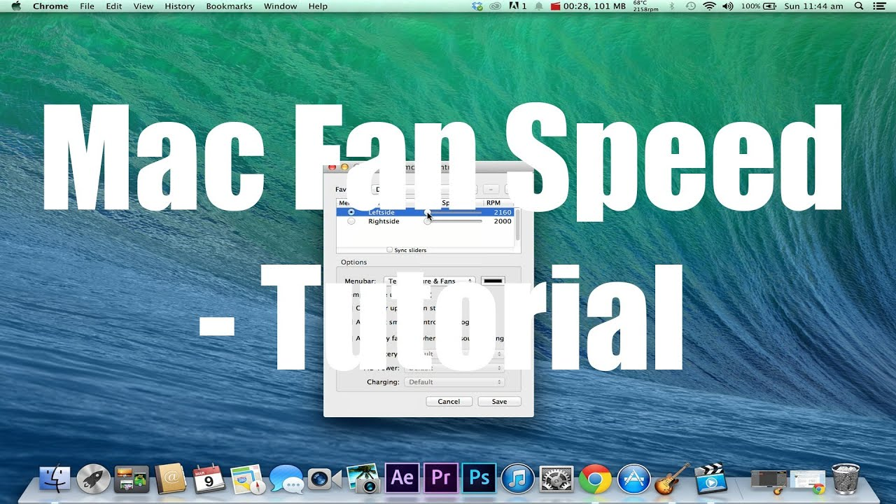 Mac - How to control fan speed tutorial (SmcFanControl)