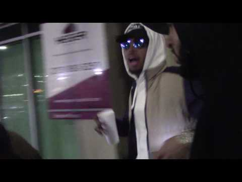 Chris Brown leaves an event in Hollywood