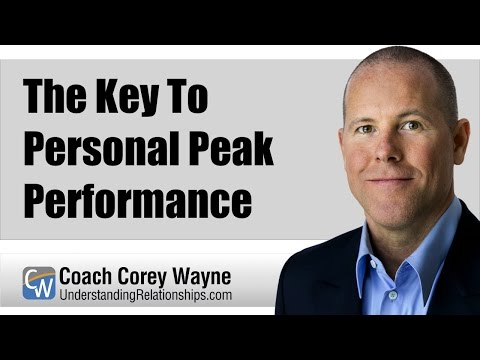 The Key To Personal Peak Performance