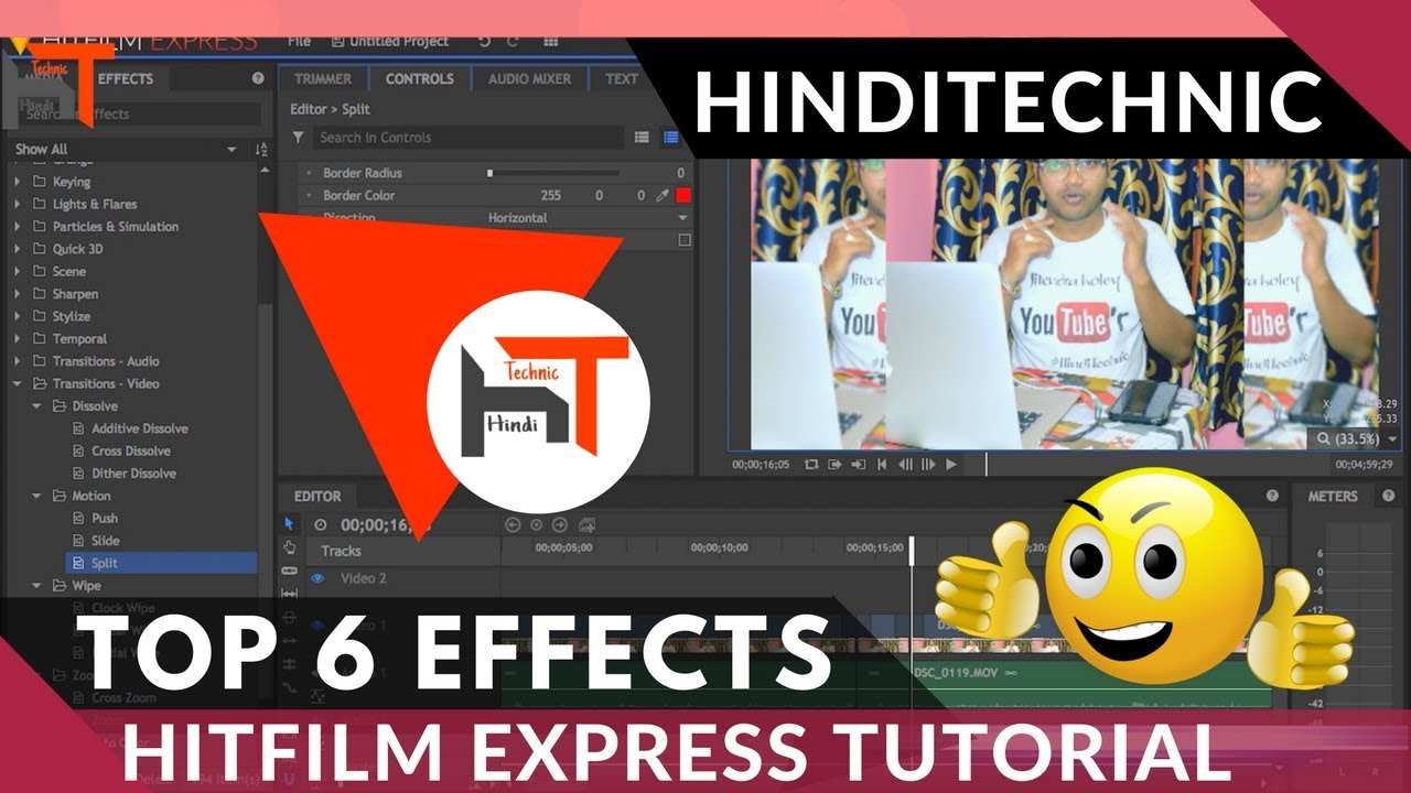 how to add text in hitfilm express 2017