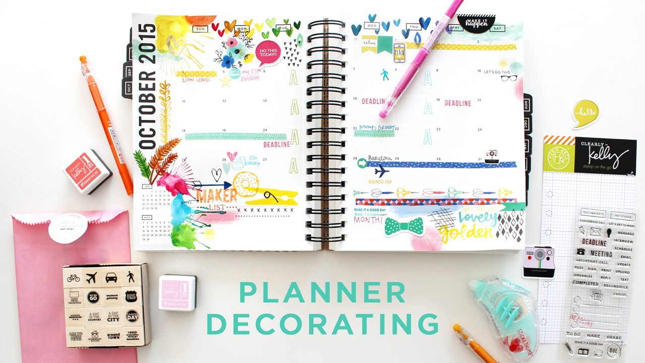 Plan with me october youtube for Plan me