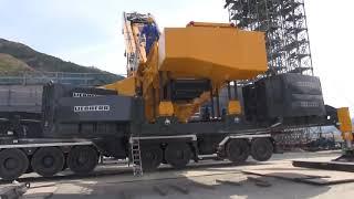 LIEBHERR LTM11200NX  東京重機㈱ ウエイト装着作業