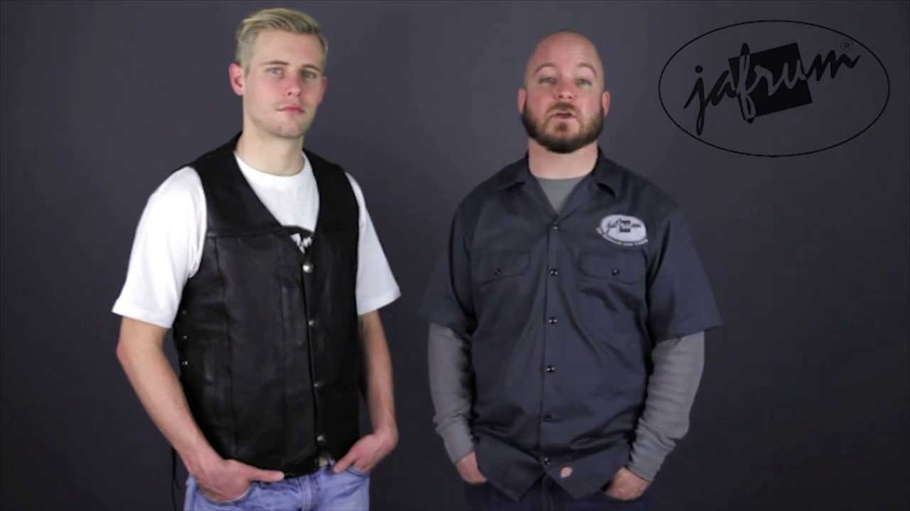 MV907 Leather Motorcycle Vest Review at Jafrumcom  YouTube