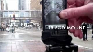 Universal Cell Phone Tripod Mount And Stand