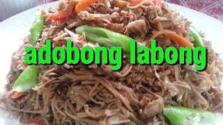 Adobong labong   bamboo shoots recipe