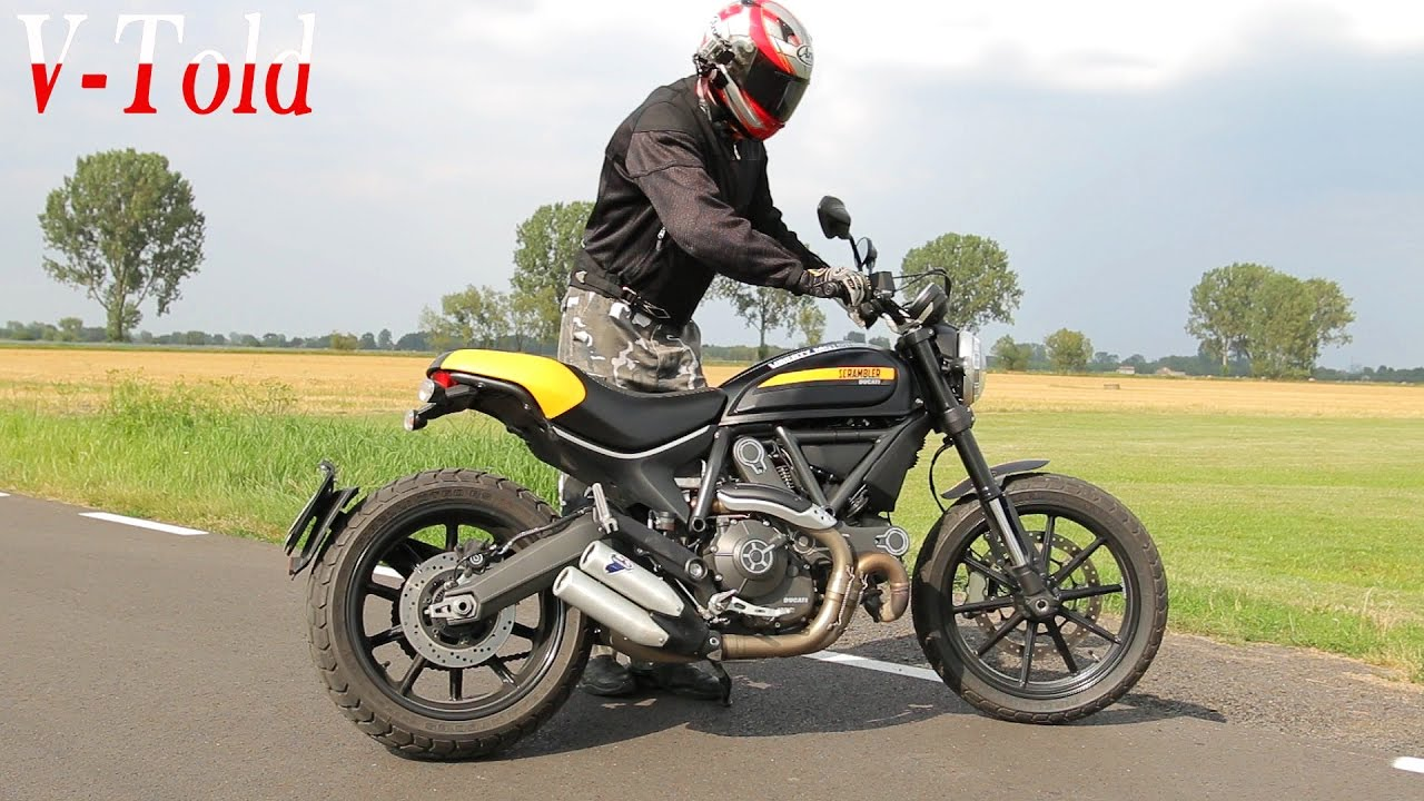 Ducati Scrambler Termignoni Exhaust Sound Youtube