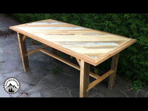 Fabrication d\'une table solide en bois de récupération - Partie 1