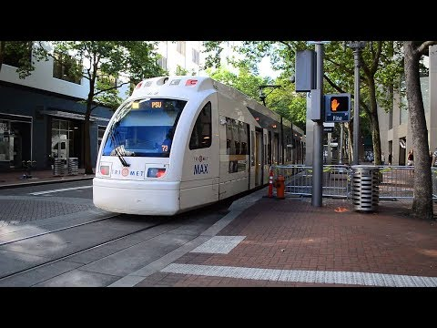 The LightRail In Portland, Oregon, USA