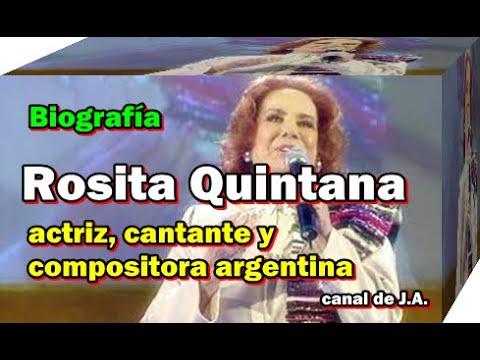 Rosita Quintana Actriz Cantante Y Compositora Argentina Biografia