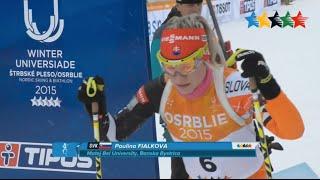 Strbske pleso/osrblie - for slovak sport it´s fantastic day. paulína fialková won in the world winter universiade osrblie biathlon women sprint 7,5 ...