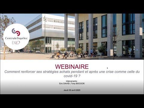 Webinar : Comment renforcer ses stratégies achats pendant et après une crise comme celle du covid 19