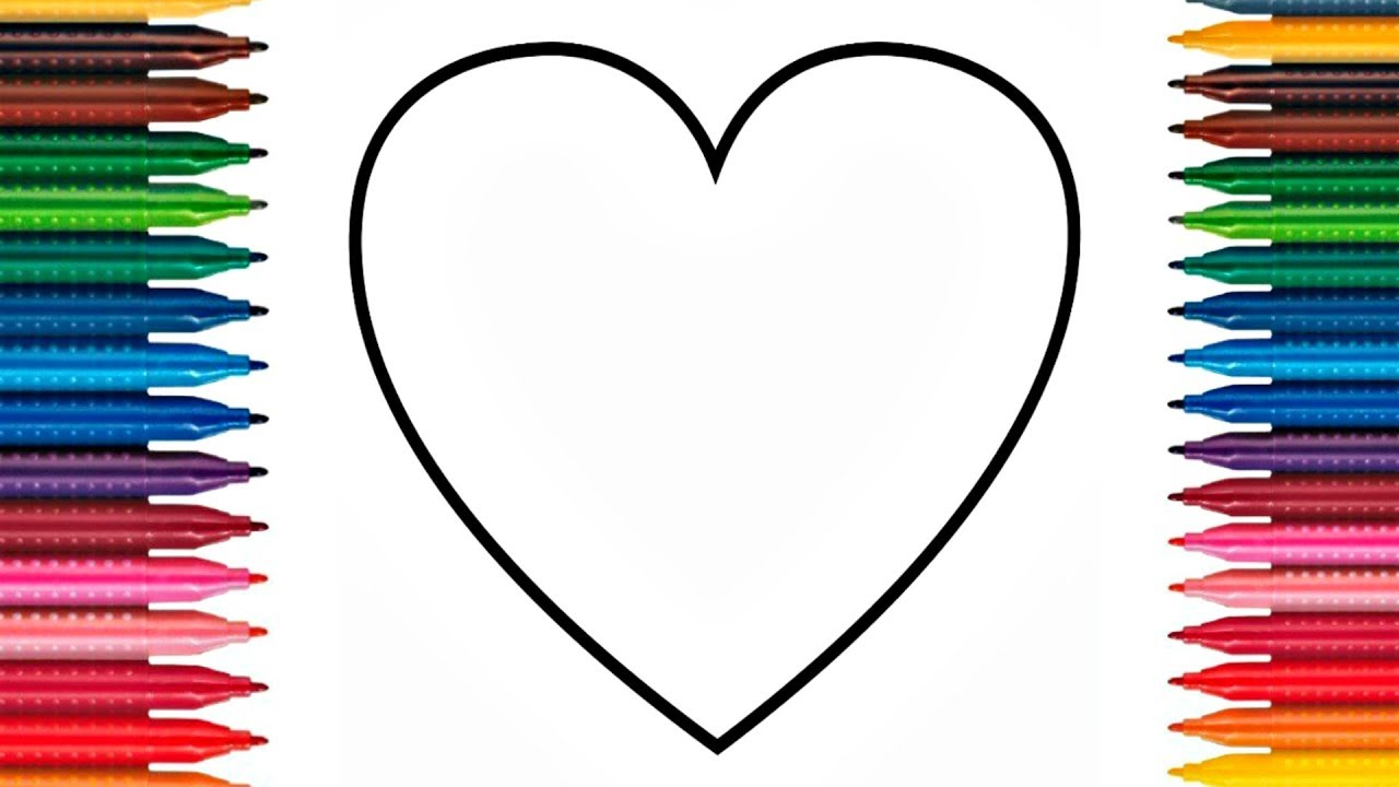 Love Hearts Coloring Pages How To Paint Hearts Drawing Hearts Pages ...