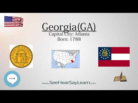 GEORGIA - The 4th State of America | EYNTK  about The States & Territories ❤️🌎🔊✅