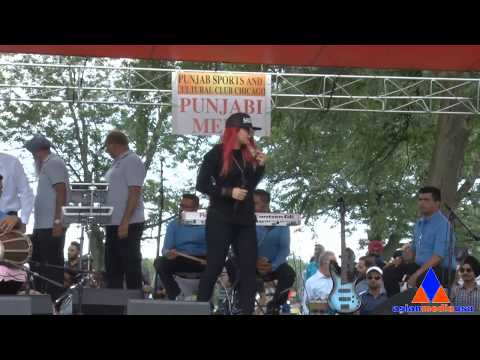 Punjabi Singers Jasmine Sandlas at Punjabi Sports Club and Cultural Club Chicago annual Punjabi Mela