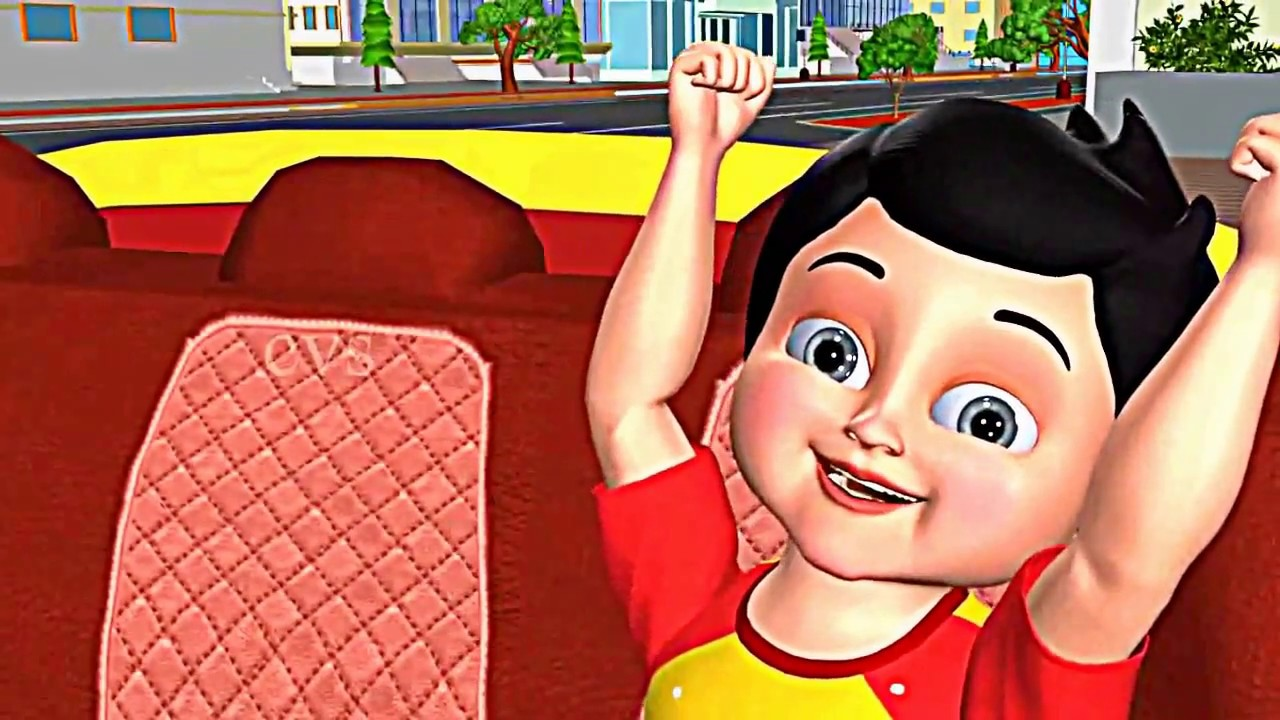 Wheels on the bus - Driving My Car - You tube. Animation - Cartoons / Nursery Rhymes - abc song