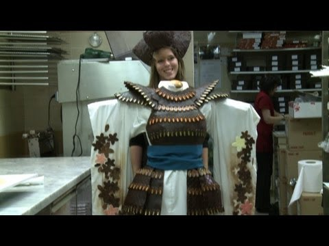 French designer creates chocolate dress that's good enough to eat