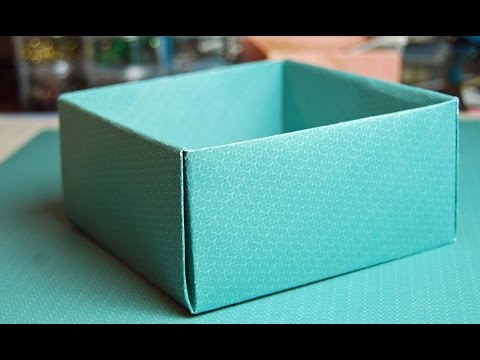 How to make a Cute BOX with Paper | DIY - Paper Box for Small Things