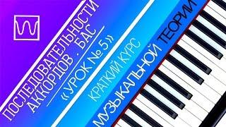 Краткий курс музыкальной теории - Последовательности аккордов. Бас (урок 5).