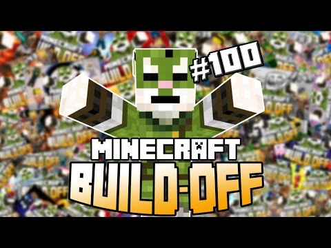 Minecraft Build Off #100 - FUNNY MOMENTS!