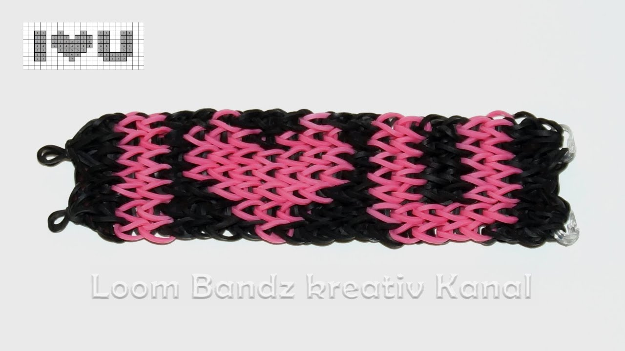 loom bandz anleitung deutsch armband mit rainbow loom youtube. Black Bedroom Furniture Sets. Home Design Ideas