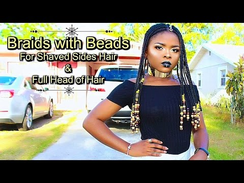 BRAIDS AND BEADS FOR SHAVED SIDES & FULL HEAD OF HAIR
