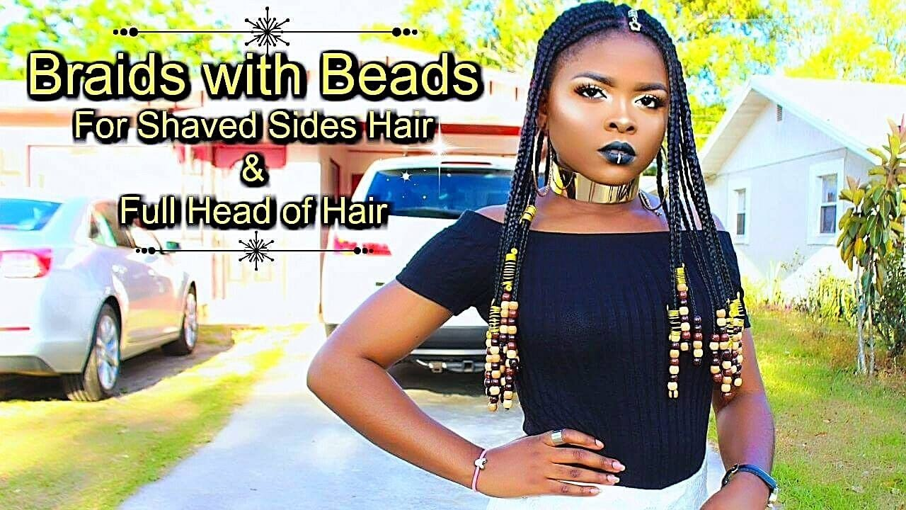 Braids And Beads For Shaved Sides Amp Full Head Of Hair