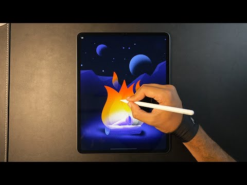 Campfire 🔥 iPad Pro Art
