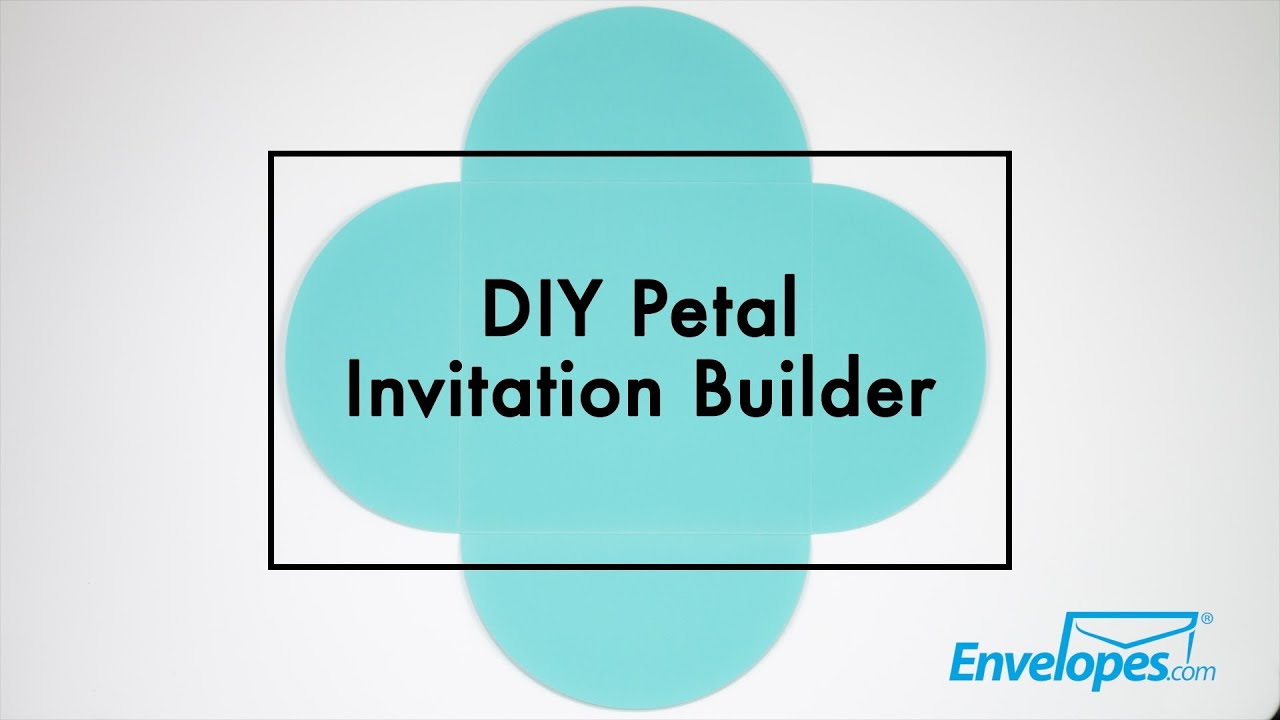 diy petal invitation builder youtube