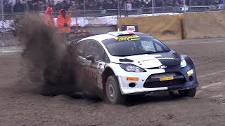 16-years-old Oliver Solberg rally show + camera car - Ford Fiesta WRC