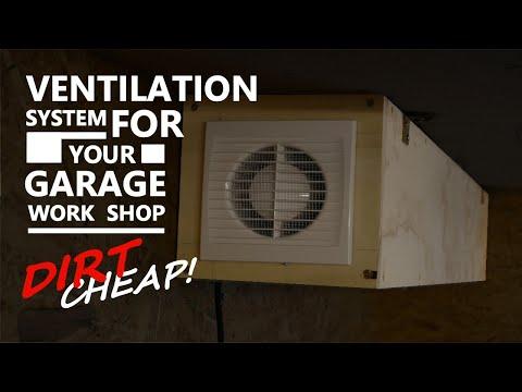 Dirt Cheap Shop Garage Ventilation System   DIY  